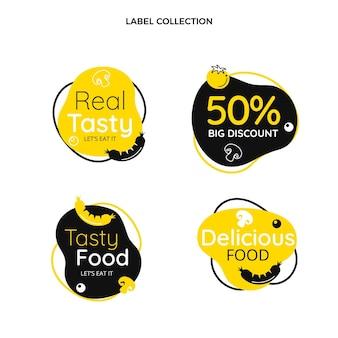 평면 디자인 식품 라벨