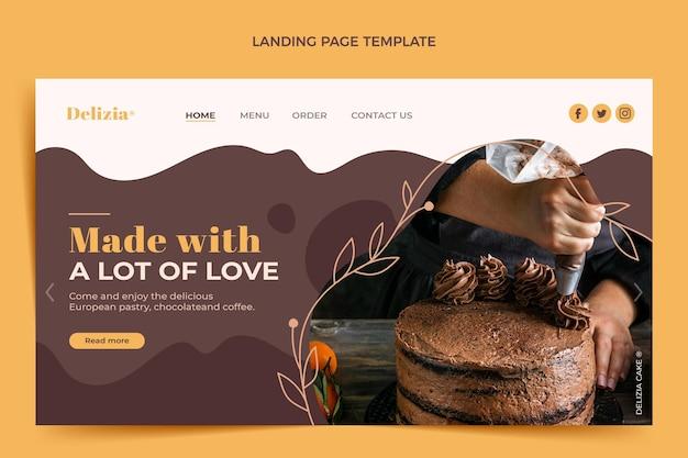 Flat design food landing page