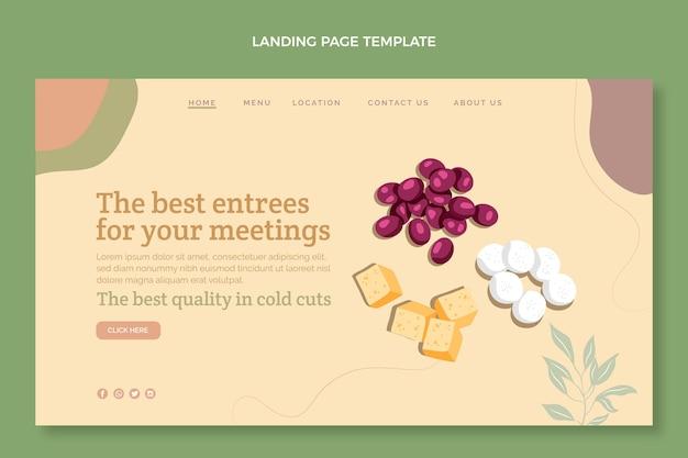 Pagina di destinazione del cibo dal design piatto