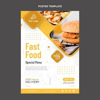 Design piatto del poster di cibo