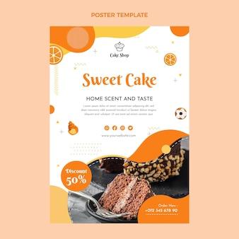 Плоский дизайн еды плакат