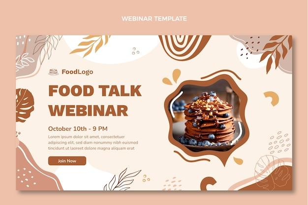 Webinar di conversazione sul cibo di design piatto