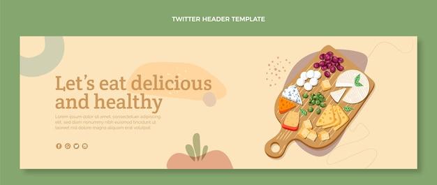 Плоский дизайн заголовка в twitter о еде