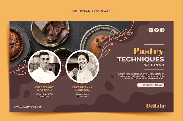 Webinar sul cibo di design piatto