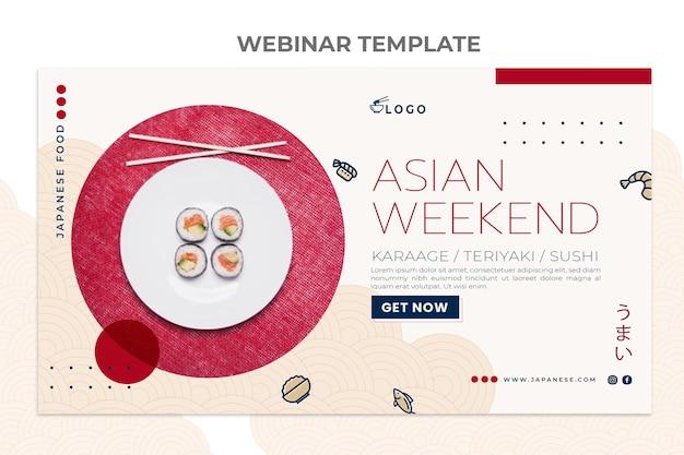 Webinar sul cibo di design piatto Vettore gratuito