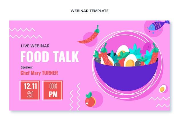 Design piatto del webinar sul cibo