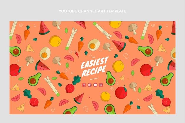 평면 디자인 음식 유튜브 채널 아트