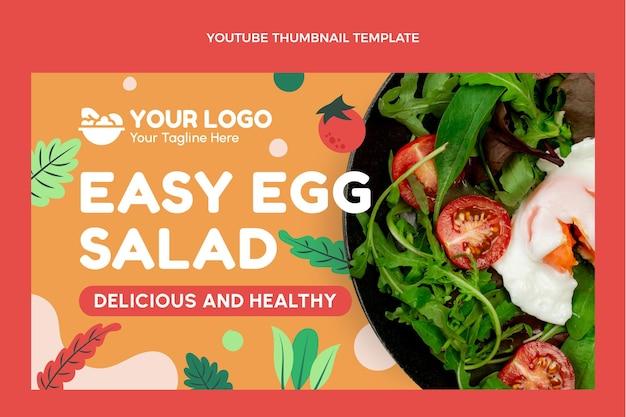 Design piatto del cibo miniatura di youtube