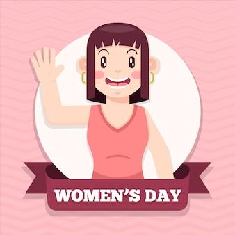 여성의 날 행사를위한 평면 디자인