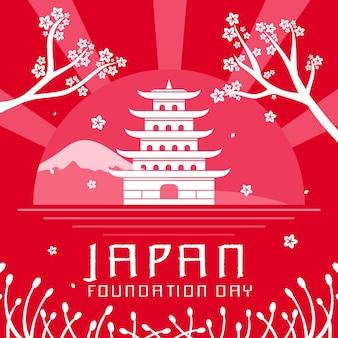 플랫 디자인 재단의 날 일본