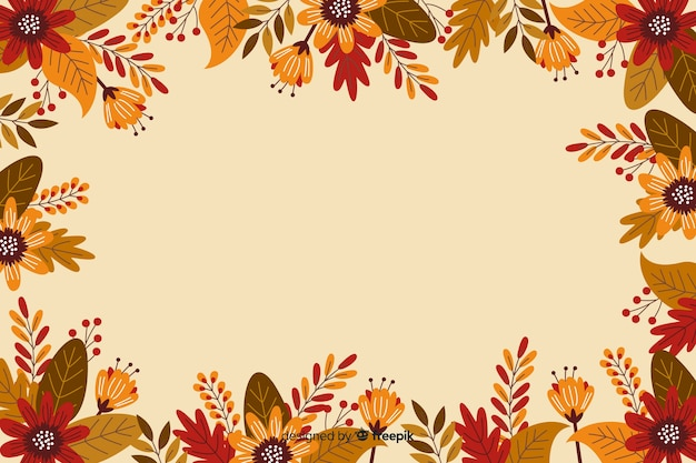 Flat design frame for thanksgiving background