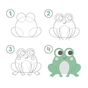 Лягушка в плоском дизайне