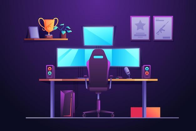 Flat designgamer room