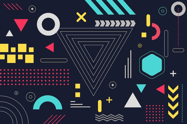 Flat design geometric background
