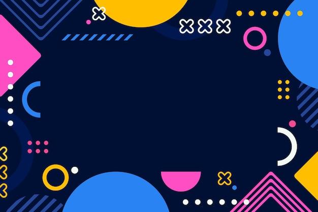 Flat design geometric background