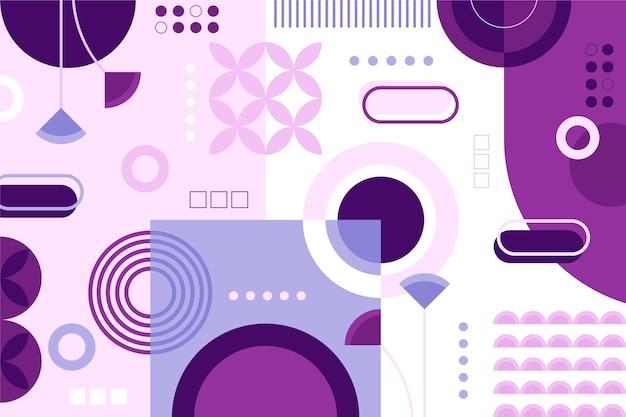 Плоский дизайн геометрический фон