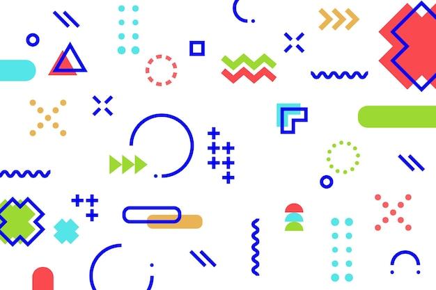 フラットなデザインの幾何学的な背景
