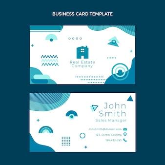 Flat design geometric real estate horizontal business card