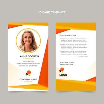 Flat design geometric real estate id card template
