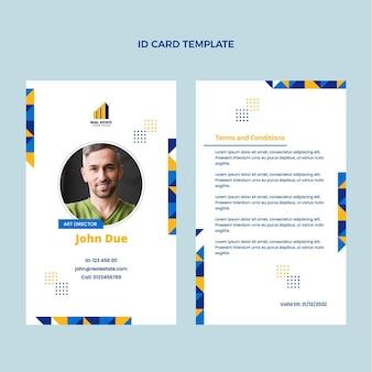 Flat design geometric real estate id card