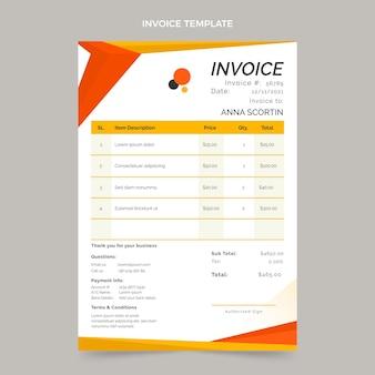 Flat design geometric real estate invoice template