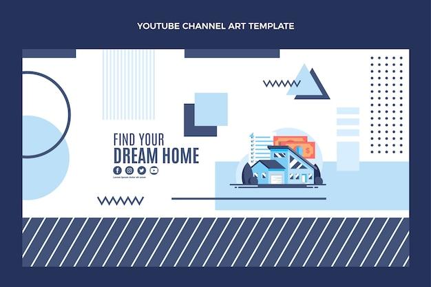 Плоский дизайн геометрической недвижимости канал youtube