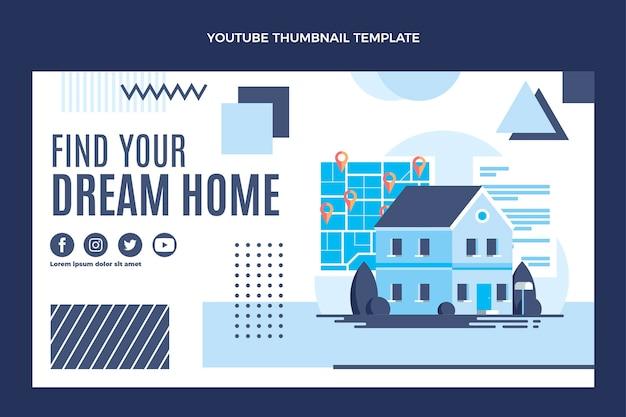Плоский дизайн геометрической недвижимости на youtube
