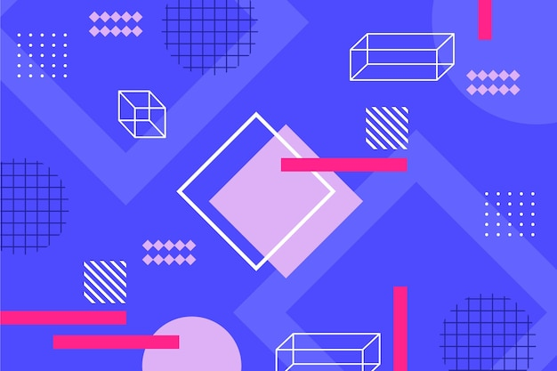 Flat design geometric shapes backdrop