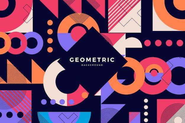Flat design geometric shapes background