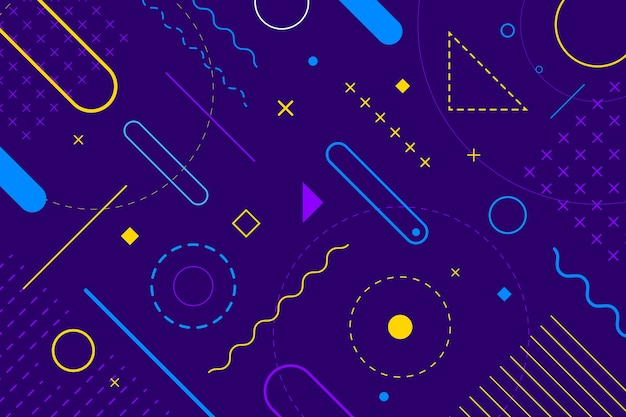 Flat design geometric shapes background