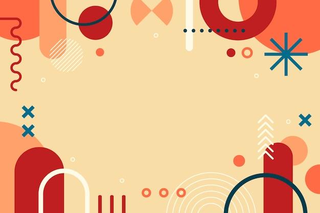 フラットなデザインの幾何学的形状の背景