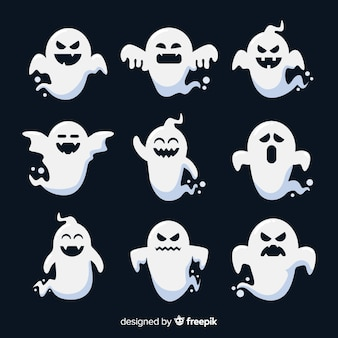 Flat design of a ghost collection
