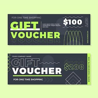 Flat design gift voucher banners template
