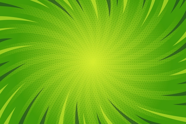 Flat design green comic style background