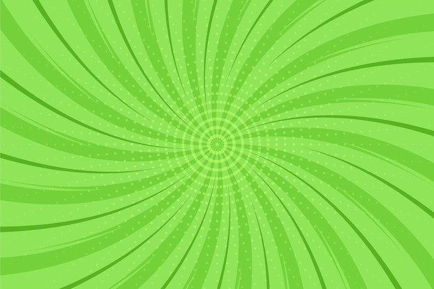 Flat design green comics background