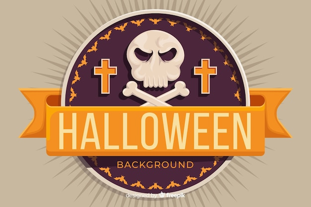 Flat design of a halloween background