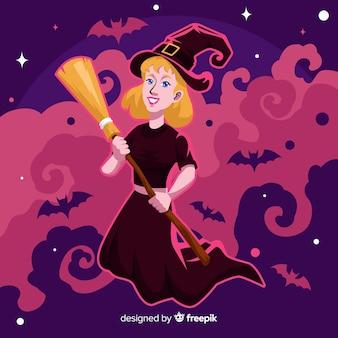 Design piatto di sfondo di halloween