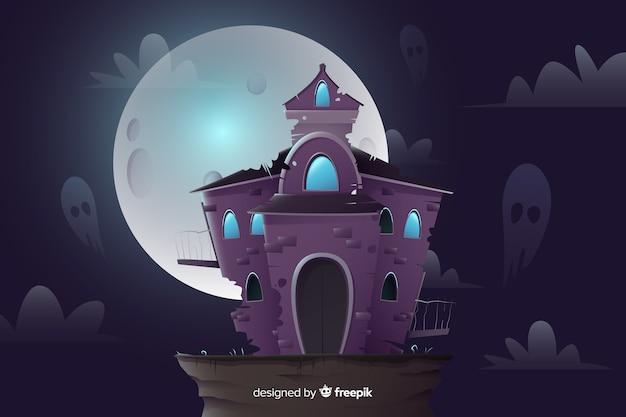 Flat design of halloween background
