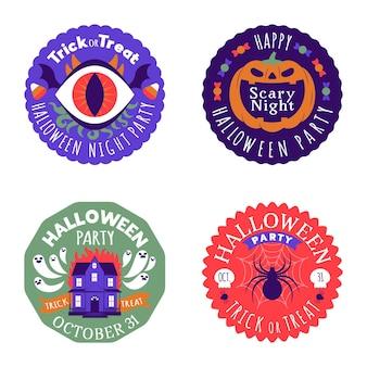 Плоский дизайн коллекции значков хэллоуина
