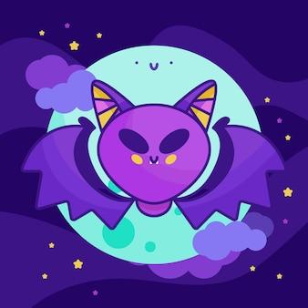 평면 디자인 할로윈 박쥐