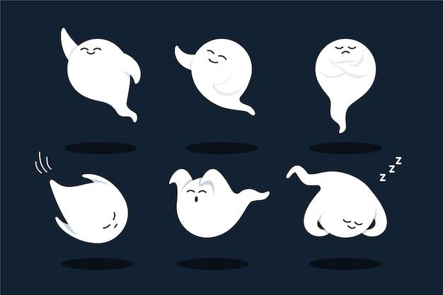 평면 디자인 할로윈 유령 컬렉션