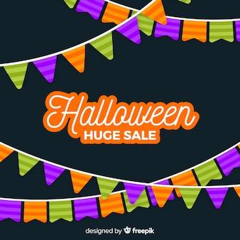 Flat design of halloween huge sale