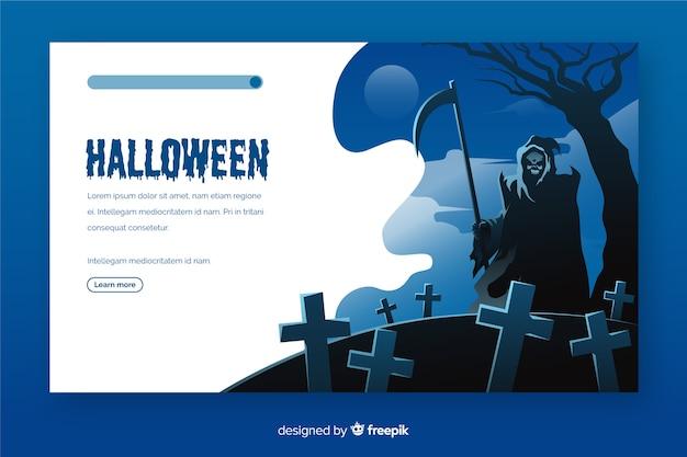 Плоский дизайн хэллоуин целевой страницы