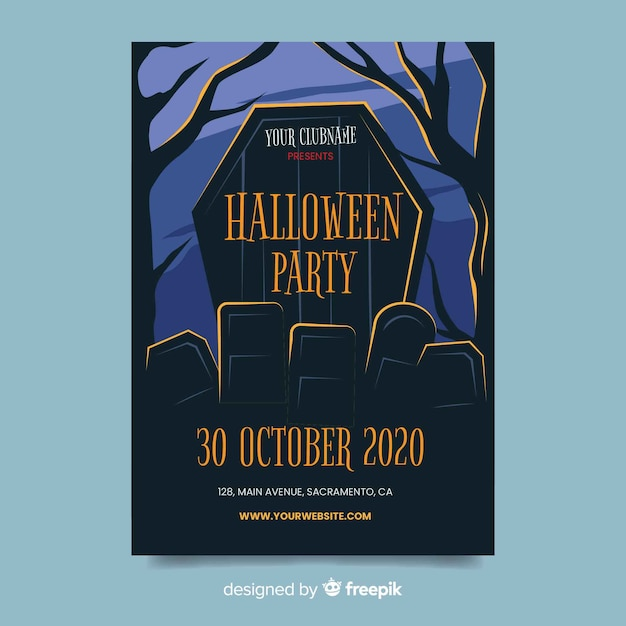 picture regarding Free Printable Halloween Party Flyers identify Halloween Flyer Vectors, Illustrations or photos and PSD documents Totally free Obtain