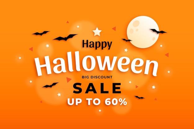 Плоский дизайн концепции продажи хэллоуина