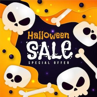 Concetto di vendita di halloween design piatto