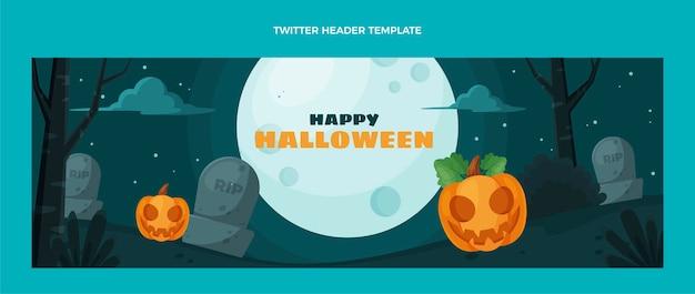 Intestazione twitter di halloween design piatto