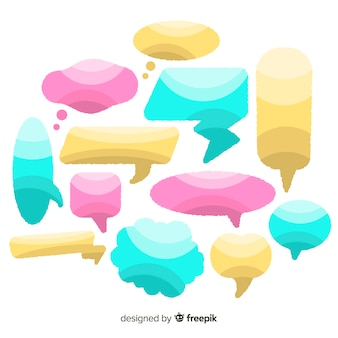 Flat design hand drawn speech bubble collection