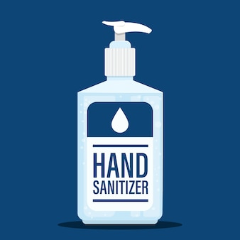 Flat design hand washing gel sanitizer