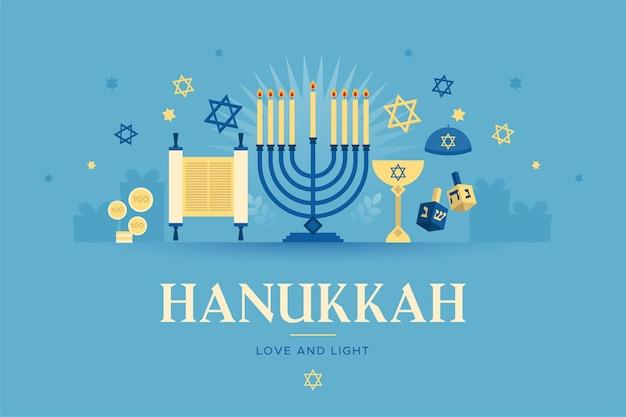 Concetto di hanukkah design piatto